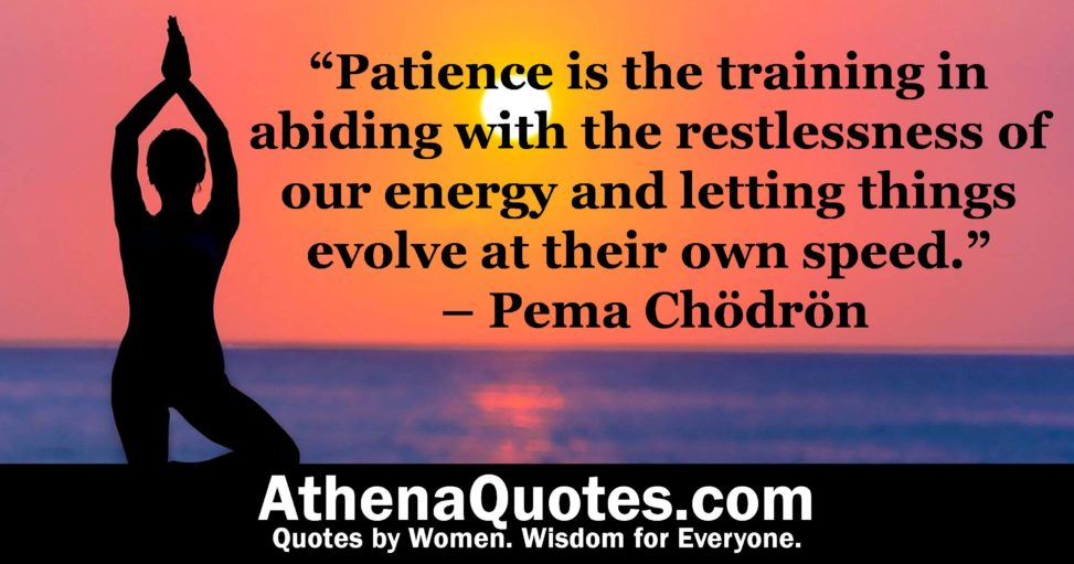 Athena Quotes Patience Is The Training In Abiding With The